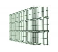 Заборная сетка 3D с ребрами жесткости усиленная 2000x2500 (толщ. Проволоки 4мм, общая 5 мм), 4 ребра