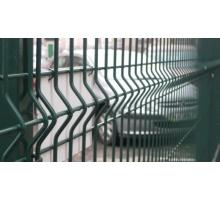 Заборная сетка 3D с ребрами жесткости усиленная 1500x2500 (толщ. Проволоки 4 мм, общая 5 мм), 3 ребра