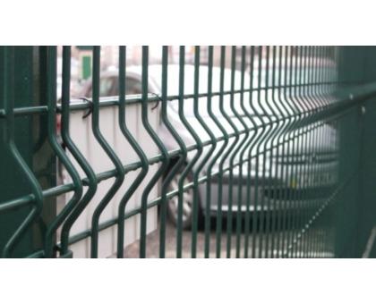 Заборная сетка 3D с ребрами жесткости усиленная 1500x2500 (толщ.проволоки 3 мм, общая 4 мм), 3 ребра