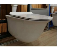 Унитаз-подвесной безободковый, вып 90 гр., белый LT051E-R 490x365x350 с UF крышкой, микролифт