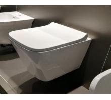 Унитаз-подвесной безободковый, вып 90 гр., белый LT052E-R 490x340x350 с UF крышкой, микролифт