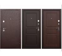 Металлическая дверь Аляска 9 см медный антик (орех темный,венге) 860(960)x2050 мм