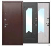 Металлическая дверь AMPIR венге, белый ясень 2050x860(960)x60 наполнение пенополистирол