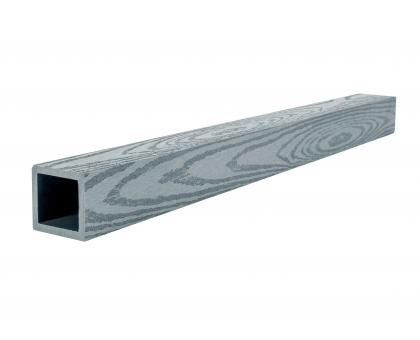 Балясина (текстура дерева или 3D фактура мелкой полоски) POLIVAN GROUP коллекция DENPASAR (50*50*3000 мм) из ДПК сер.