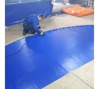 Покрытие борцовского ковра 1 цвет пвх Sealtex 650г/м2 люверсы 4см