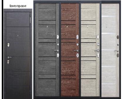Металлическая дверь Чикаго шале графит,листв.беж, шале белый 2050x860(960)x105мм наполнение пенополистирол