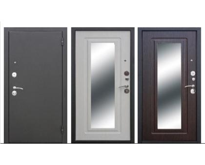 Металлическая дверь Царское зеркало 6 см Муар (белый ясень, венге)  860(960)x2050 мм