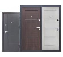 Металлическая дверь Феррум Шелк венге, светлый орех 2050x860(960)x100 наполнение минеральная плита