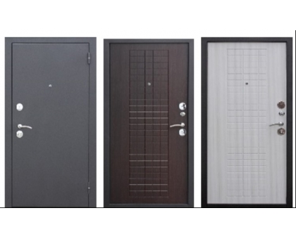 Металлическая дверь Гарда муар 8мм Венге, Белый ясень 2050x860(960)x60 наполнение пенополистирол