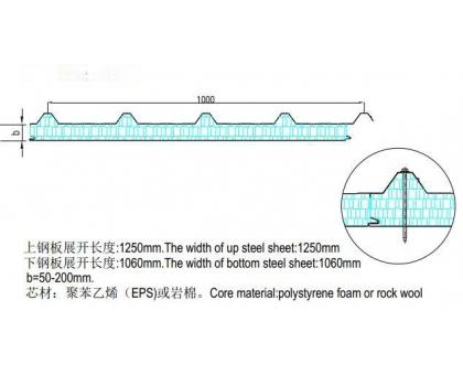 Изолирующая прокладка кровли 1000 мм