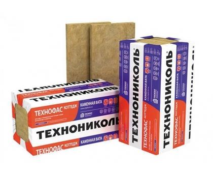 Плиты минераловатные ТЕХНОФАС КОТТЕДЖ 1200х600х50 мм, уп-6плит,(без поддона) плотность 95-115 кг-м3
