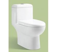 Унитаз моноблок, вып 90 гр,  MLZ-0910D White (белый), 645x365x705 мм