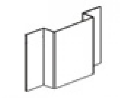 Профиль оцинкованный вертикальный основной (L=3 м.п.) 65х21,5х20х1,1