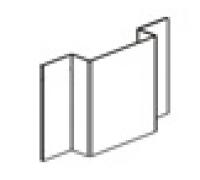 Профиль оцинкованный вертикальный основной (L=3 м.п.) 65х21,5х20х1,2