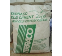Цемент Terraco tile 2100 grey 25 кг клей