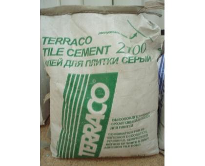 Цемент Terraco tile 2100 grey 25 кг клей