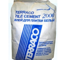 Цемент Terraco tile 2000 white 25 кг клей