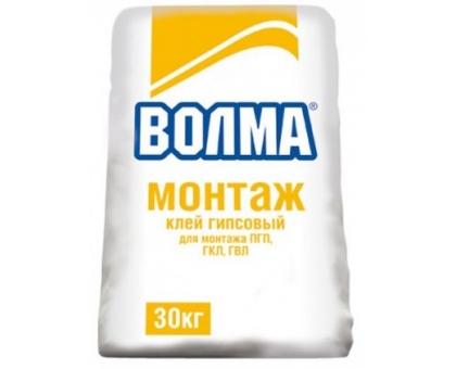 Клей гипсовый Волма Монтаж Мороз 30 кг