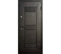 Дверь метал. Венеция 32-4 2050х960х68 венге с патиной левая + 1б. пены монтажной Атом 60 утепл. Пенополистирол