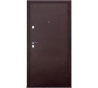 Дверь метал. Волна 47-1 2050х860х65 дуб мореный правая + 1б. пены монтажной Атом 60 утепл. Пенополистирол