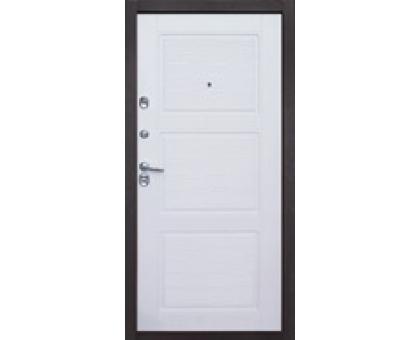 Дверь метал. Авангард JS1202 2050х860х80 беленный дуб правая + 1б. пены монтажной Атом 60 утепл. Пенополистирол