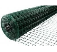 Металлическая cетка с ПВХ покрытием (зеленая) 1мx10м (ячейка 1,5x1,5см) толщ(0,6/0.9)