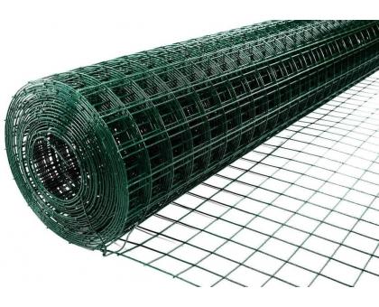 Металлическая cетка с ПВХ покрытием (зеленая) 2мx30м (ячейка 6x6см) толщ(1.5/2,2)