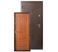 Металлическая дверь Стройгост 7-2 Итальянский орех 2050x860(960)x70 наполнение пенополистерол