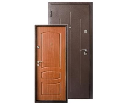 Металлическая дверь Стройгост 7-2 Итальянский орех 2050x860(960)x65 наполнение пенополистерол