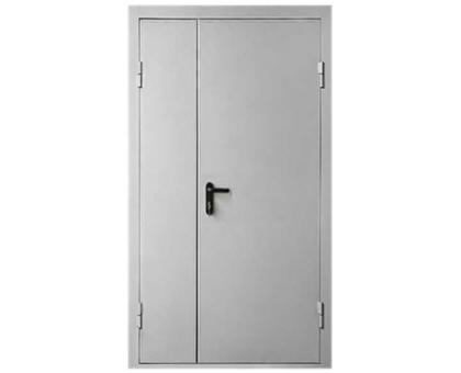 Противопожарная метал дверь 2050x1060(1070) без окна, огнестойкая минеральная вата