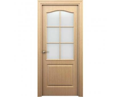 Дверь Палитра дуб светлый остекл. 60см