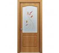 Дверь Палитра миланский орех стекло Витраж. 60см, 70 см, 80 см