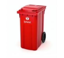 Контейнер для мусора 360л с крышкой на колесах диаметром 200 мм,  стойкостью t от -40 до +60