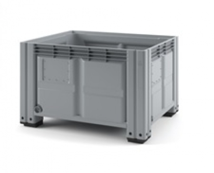 Полимерный сплошной контейнер на ножках 525л 1200х800х800 мм, стойкостью t от -30 до +40