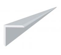 Угол отделочный пвх белый, 3м 25х25