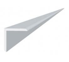 Угол отделочный пвх белый, 2,7м 20х20