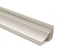 Плинтус пвх потолочный белый, 3м