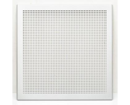 Кассета перфорированная Албес AP600A6, Белый матовый, Сплошная, Алюминий