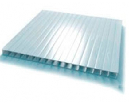 Сотовый поликарбонат CARBOGLASS, 16 мм, 3 стенки, прозрачный, УФ-защита, 2100 х 6000 мм