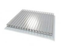 Сотовый поликарбонат gross-pc, 4 мм, 2 стенки, прозрачный, уф-защита, 2100 х 6000 м