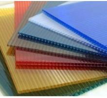 Сотовый поликарбонат Ecovice 4мм, 2 стенки, уф-защита (синий) 2100x6000 mm