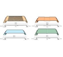 Фасадная панель ширина 200x180 мм длина до 6000мм толщина 0,45 PRINTECH
