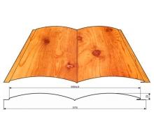 Сайдинг металлический Двойное бревно толщина - 0,45 ширина - общ 388 рабоч 354 мм PRINTECH