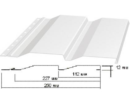 Сайдинг Корабельная доска толщина-0,45мм, ширина-263(238)мм, Длина-6000мм RAL 9003