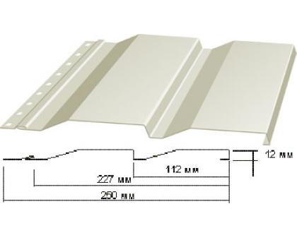 Сайдинг Корабельная доска толщина-0,45мм, ширина-263(238)мм, Длина-6000мм RAL 9002