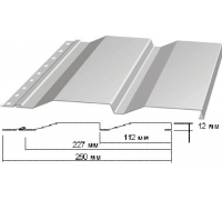 Сайдинг Корабельная доска толщина-0,45мм, ширина-263(238)мм, Длина-6000мм RAL 7004