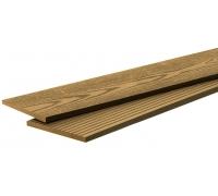 Террасная доска POLIVAN - вельвет мелкий+текстура песочный (4000x140x23)