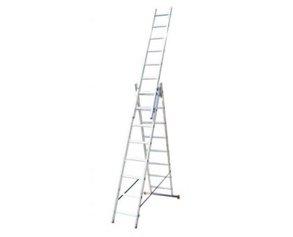 Лестница алюминиевая трехсекционная 5310 Алюмет 3 х10 282-476-646 14,3 кг