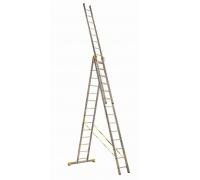 Лестница алюминиевая трехсекционная 9308 Алюмет ПРОФИ 3 х8 241-374-539 15,6 кг