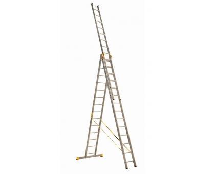 Лестница алюминиевая трехсекционная 9312 Алюмет ПРОФИ 3 х12 346-612-868 26,3 кг